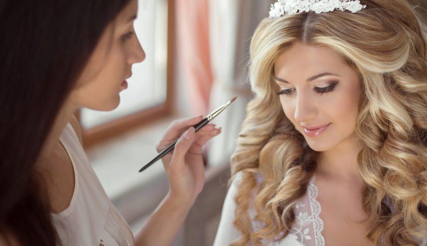 classic wedding hair and makeup