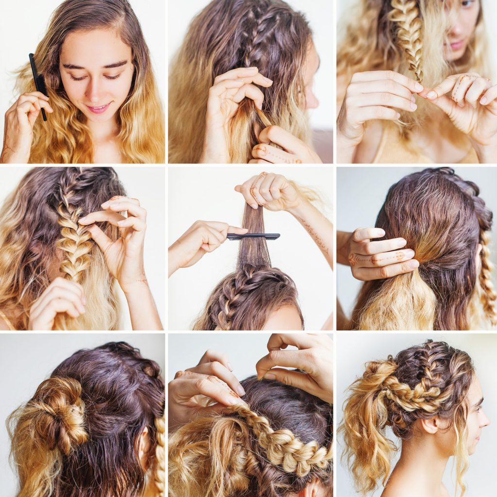 Braids, waves, and up-dos all remain popular wedding hair and makeup styles.