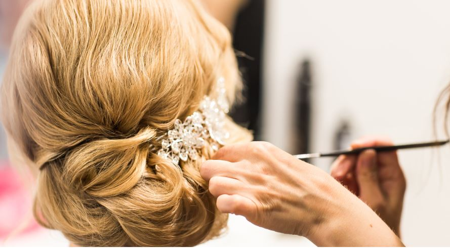 Communicate the style you want with your wedding hair stylist.