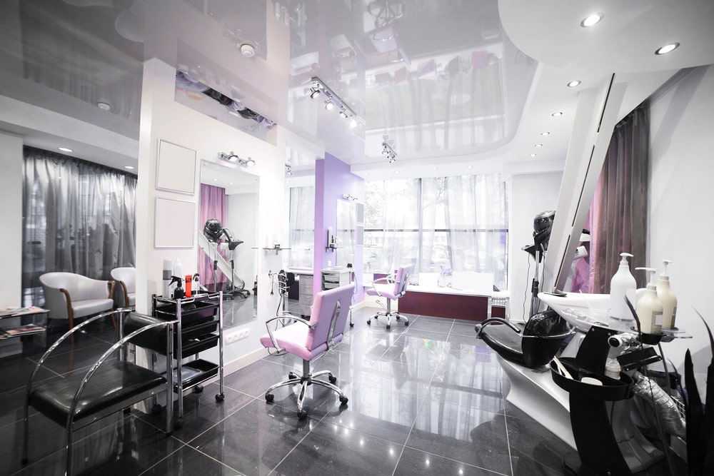 The interior of a beauty salon is important.